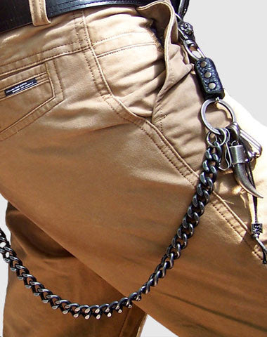 BLACK BIKER TRUCKER XO HORN HOOK WALLET CHAIN FOR CHAIN WALLET BIKER WALLET TRUCKER WALLET