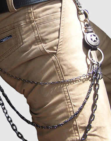 Black biker trucker star hook wallet Chain for chain wallet biker wallet trucker wallet
