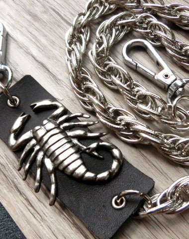 Sliver biker trucker punk scorpion hook wallet Chain for chain wallet biker wallet trucker wallet