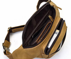 COOL LEATHER MENS FANNY PACK FOR MEN BUMBAG Vintage WAIST BAGS for Men