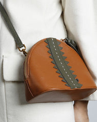Genuine Leather Cute Crossbody Bag Shell Tassels Clutch Wallet Shoulder Bag Women Leather Purse
