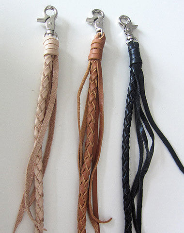 Handmade leather braided wallet Chain for chain wallet biker wallet trucker wallet
