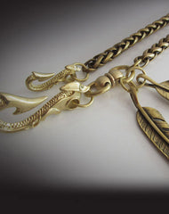 Brass biker trucker dragon hook wallet Chain for chain wallet biker wallet trucker wallets