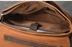 Leather Mens Brown Briefcase 14'' Laptop Bag Messenger Bag Shoulder Bag For Men