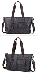 Casual Black Brown Leather Men Handbag Overnight Bags Travel Bags Weekender Bags For Men
