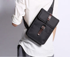 Nylon Cloth Casual Men's Sling Bag One Shoulder Backpack Chest Bag For Men