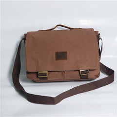 Cool Canvas Mens 15'' Side Bag Shoulder Bag College Bag Messenger Bag for Men