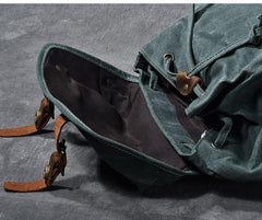 Waxed Canvas Leather Mens Womens 16