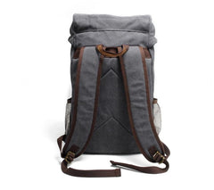 Cool Canvas Mens Retro Large 15'' Backpack Travel Backpack Hiking Backpack for Men