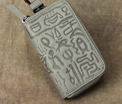Cool Leather Aztec Designed Mens Car Key Key Wallet Small Key Holders for Men