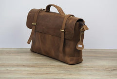 Cool Leather Mens 14inch Laptop Bag Briefcase Work Handbag Business Bag for Men
