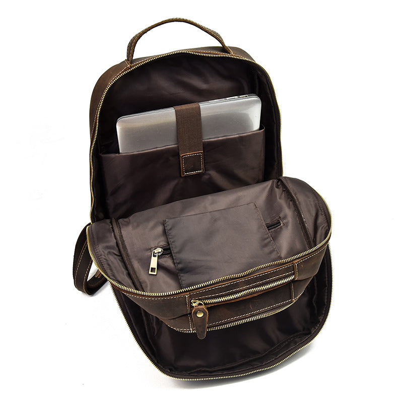 b86ec1242c8  189.00 189.00. No reviews. Overview  Design  Cool Leather Mens Backpack  Large Vintage Travel Bag ...