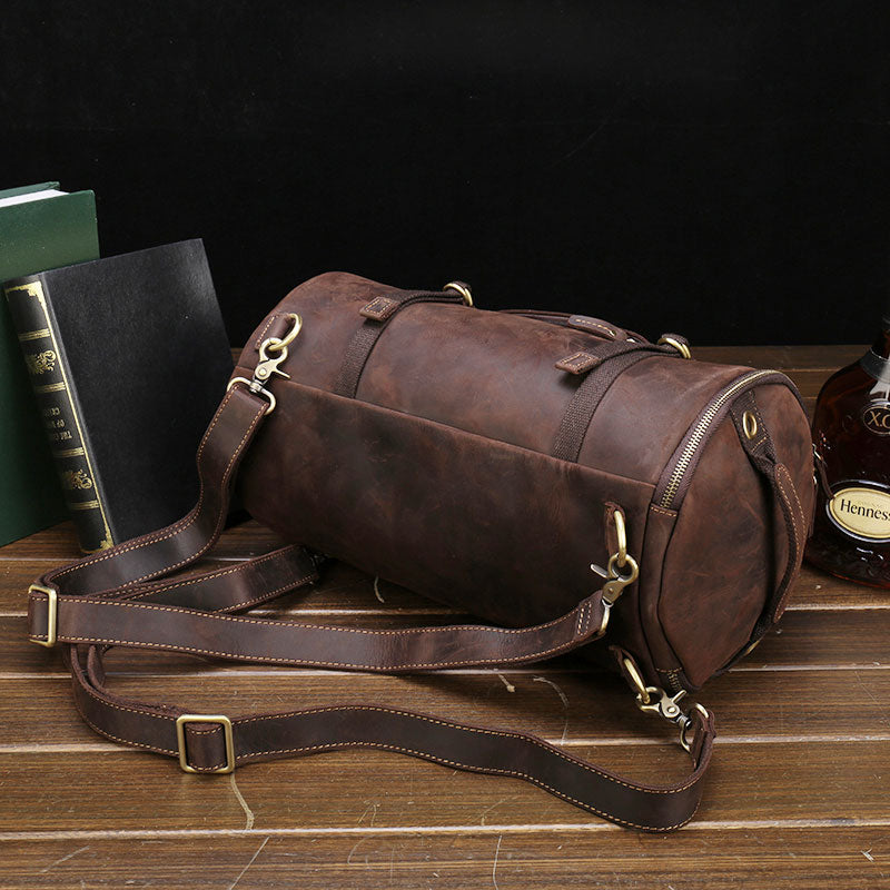 6958c87017b8 ... Mens Leather Barrel Backpack Cool Travel Bag Weekender Bag for men  the  best attitude a7336 f3384 Previous. Next. 179.00179.00.