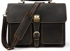 Leather Mens Briefcase Business Briefcase Vintage Shoulder Bags Handbags for men