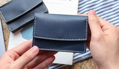 Cool Leather Mens Card Wallet Front Pocket Wallets Small Card Holders for Men