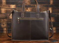 Cool Leather Mens Coffee Briefcase Handbag Messenger Bag Shoulder Bag for Men