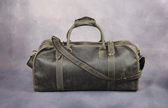 Cool Leather Mens Overnight Bags Weekender Bag Vintage Travel Bags Duffle Bag for Men