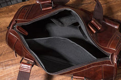 Cool Leather Mens Travel Bag Overnight Bag Work Handbag Business Bag for Men
