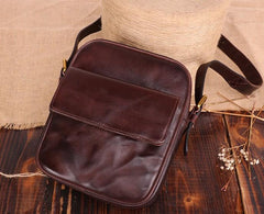 Cool Leather Small Side Bag Messenger Bag Small Shoulder Bags For Men