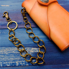 Cool Men's Brass Pants Chain Gold Punk Fashion Gold Wallet Chains For Men
