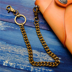 Badass Men's Brass Pants Chain jeans chain jean chain Punk Fashion Gold Wallet Chains For Men