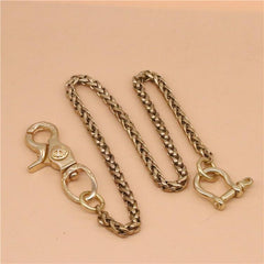 Cool Men's Brass Dragon Key Chain Stainless Steel Pants Chains Biker Wallet Chain For Men