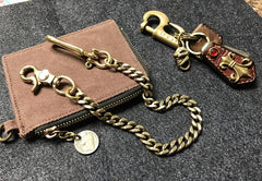 Cool Men's 18'' Gold Brass Biker Jean Chain Pants Chains Biker Wallet Chain For Men