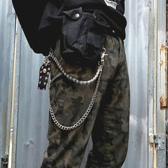 Cool Men's Women's Silver Bike Chain Long Biker Wallet Chain Pants Chain For Men