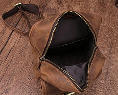 Cool Mens Leather Sling Bag One Shoulder Bag Sling Chest Bag For Men