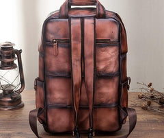 Cool Mens Vintage Leather Backpack School Backpack Travel Backpack for men