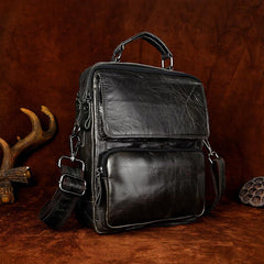 Cool Oiled LEATHER MENS Small Side Bag Small SHOULDER BAG HANDBAGS FOR MEN