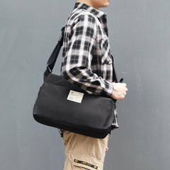 Cool Polyester Cloth PVC Men's Messenger Bag Large Side Bag For Men