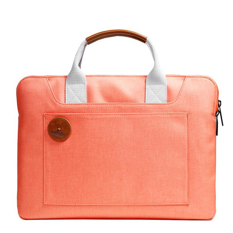 Cool Oxford Cloth PVC Women Orange 13.3'' Briefcase Business Computer Handbag For Women