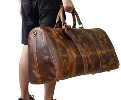 Cool Vintage Brown Leather Mens Overnight Bags Travel Bags Weekender Bags For Men