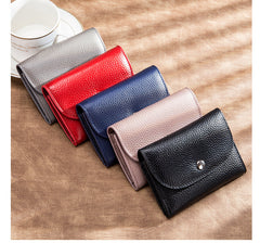 Cute Women Gray Leather Change Wallet Coin Wallet Small Billfold Wallet For Women