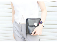 Cute LEATHER Black WOMENs SHOULDER BAG Purses FOR WOMEN