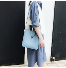 Cute LEATHER Fashion Bucket Bag WOMENs SHOULDER BAG Purses FOR WOMEN