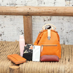 Cute Leather Backpacks Pocketbook Bag - Annie Jewel