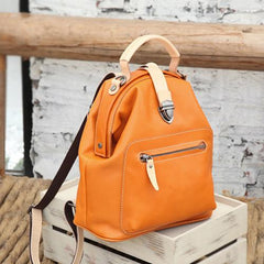 Women's Small Leather Backpack Bag - Annie Jewel
