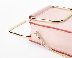 Cute Leather Womens Mini Chain Purse Handbags Chain Shoulder Bag for Women