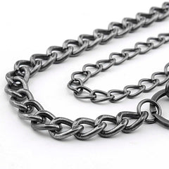 Badass Double Silver Wallet Chain Long Biker Wallet Chain Punk Pants Chain For Men