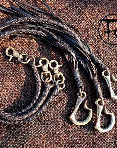 Leather trucker wallet Chain biker wallet Chain for chain wallet biker wallet with dragon hook