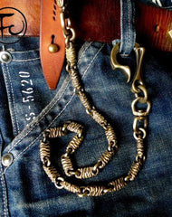 Brass biker trucker dragon hook wallets Chain for chain wallet biker wallet trucker wallet
