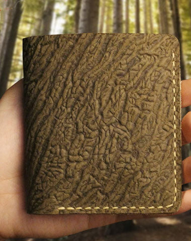 Handmade short leather wallet purse leather short wallet for men women