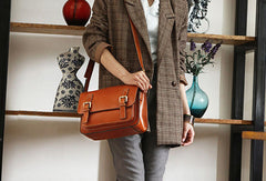 Handmade vintage leather Satchel Bags crossbody bag Shoulder Bag for girl women