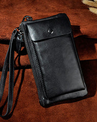 LEATHER MENS Clutch Wristlet Bag Phone Wallet FOR MEN