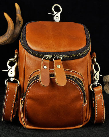 MEN LEATHER Belt Pouch WAIST BAG HIP PACK BELT BAG FANNY PACK BUMBAG