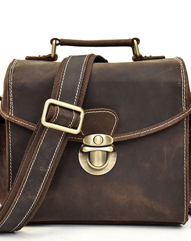 Cool Men Leather Camera Bag Canon Vintage Messenger Shoulder bag For Men
