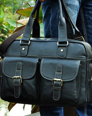 Leather Mens Messenger Bag Travel Bag Shoulder Bag Business Bag for men