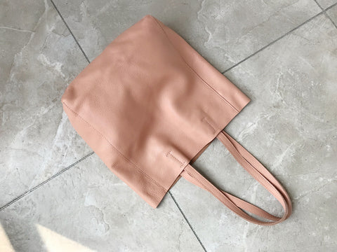 Fashion Womens Pink Leather Vertical Tote Bags Pink Shoulder Tote Bags Pink Handbags Tote For Women